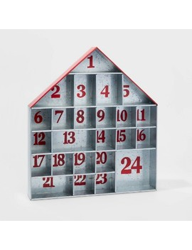 Galvanized House Christmas Advent Calendar   Wondershop™ by Shop This Collection