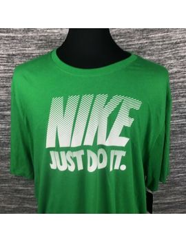 Nike Dri Fit Mens 4 Xl Athletic Cut The Nike Tee Just Do It Green T Shirt New by Nike