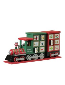 "Northlight 16.5"" Red And Green Decorative Elegant Advent Calendar Locomotive by Northlight"