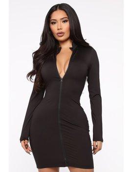 Sporty But Girly Mini Dress   Black by Fashion Nova
