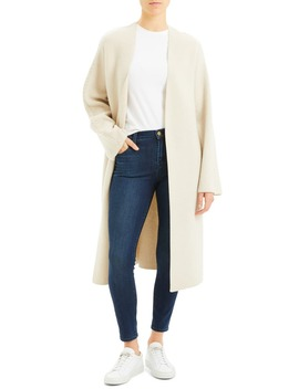 Wool & Cashmere Sweater Coat by Theory