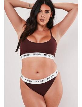 Plus Size Aubergine Msgd Taped Bralet by Missguided