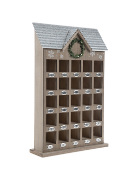Brown House Wood Advent Calendar by Hobby Lobby