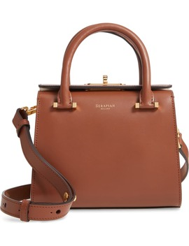 Mini Villa Leather Top Handle Bag by Serapian Milano
