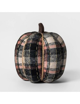 Knit Plaid Pumpkin Halloween Decoration Large   Spritz™ by Shop This Collection