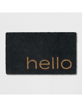 "1'6""X2'6""/18""X30"" Quote Doormat Black   Project 62™ by Project 62"