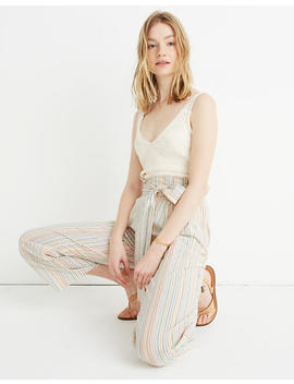Paperbag Cover Up Pants In Rainbow Stripe by Madewell
