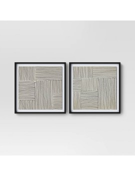 "(Set Of 2) 20"" X 20"" Abstract Lines Framed Print   Project 62™ by Shop Collections"