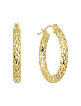 Infinite Gold™ 14 K Yellow Gold Mesh Hoop Earrings by Fine Jewelry