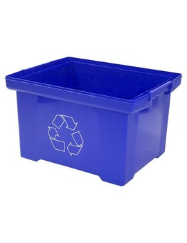 Storex® Xl Recycling Bin, 10 Gallon   Blue by Storex