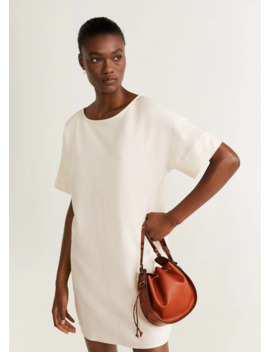 Back Button Dress by Mango