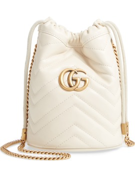 Mini Gg Marmont 2.0 Quilted Leather Bucket Bag by Gucci