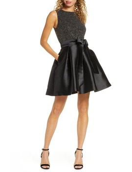 Metallic Knit Fit & Flare Dress by Sam Edelman