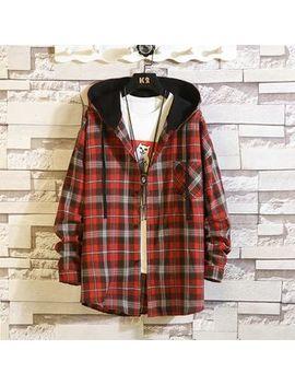 Pricus   Plaid Hooded Jacket by Pricus