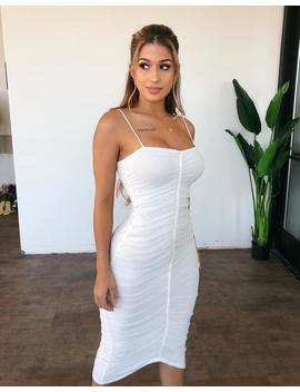 Millie Cami Dress(White) by Ootdfash