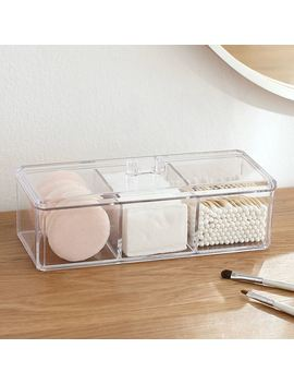 Transparent Clear Acrylic Organizer Holder Cotton Swab Box Makeup Pads Storage Box Desktop Organizer Jewelry Case For Cosmetics by Ali Express.Com