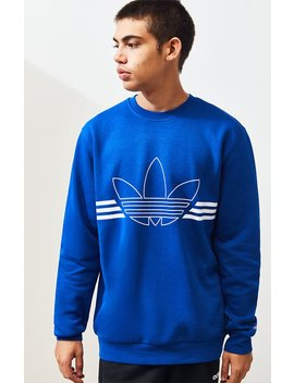 Adidas Outline Crew Neck Sweatshirt by Pacsun