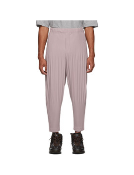 Beige Pinto Beans Pleated Trousers by Homme PlissÉ Issey Miyake
