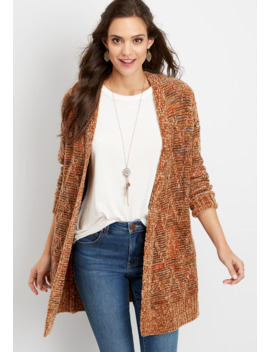 Chenille Open Front Cardigan by Maurices
