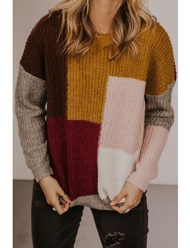Maize Colorblock Sweater by Roolee