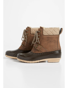 Kendra Quilted Trim Duck Boot by Maurices