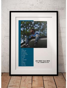 J. Cole 2014 Forest Hills Drive Custom Album Poster, J Cole Poster by Etsy