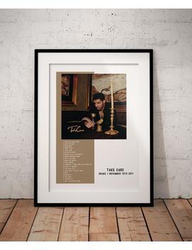 Drake Take Care Album Custom Poster, Drake Poster, Take Care Poster, Drake Take Care Poster by Etsy