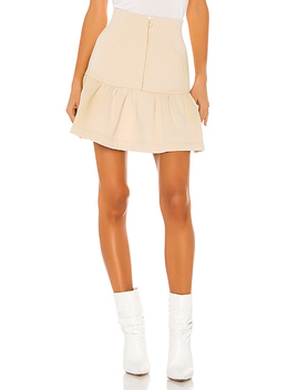 The Heather Skirt In Oatmeal by Selkie