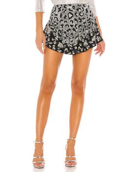 Dawn Skirt In Silver Leopard Mix by Retrofete