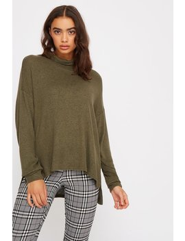 Brushed Dolman Turtleneck Long Sleeve by Urban Planet