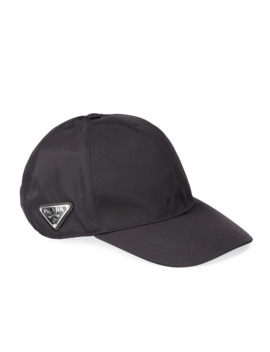 Men's Logo Plaque Baseball Cap by Prada
