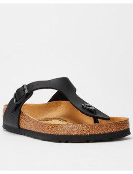 Birkenstock Gizeh Core Toe Post Slide Black by Birkenstock