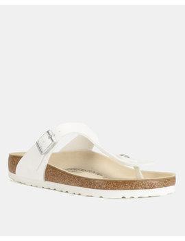 Birkenstock Gizeh Sandals White by Birkenstock