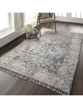 Beckstead Teal/Gray Area Rug by Charlton Home
