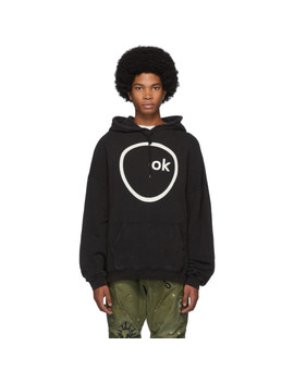 Black Radiohead Edition Oversized Ok Computer Hoodie by R13