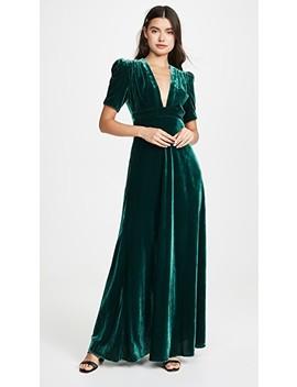 Velvet Deep V Gown by Jill Jill Stuart