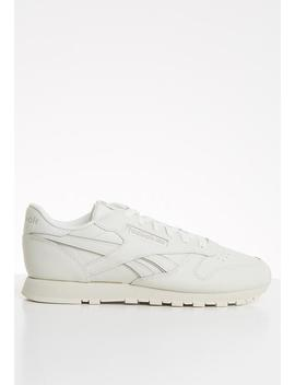 Classic Leather   Chalk & Weathered White by Reebok Classic