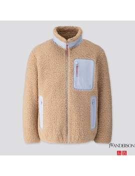 Jw Anderson Wind Proof Pile Lined Fleece Full Zip Jacket by Uniqlo