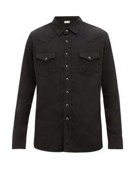 Western Cotton Blend Shirt by Saint Laurent
