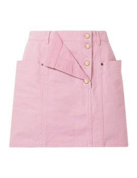La Jupe De Nimes Layered Denim Mini Skirt by Jacquemus