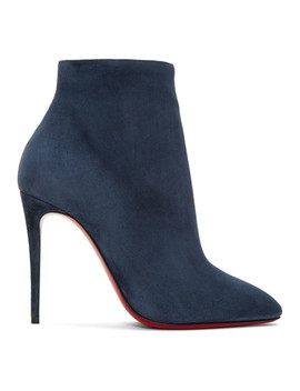 Blue Suede Eloise 100 Boots by Christian Louboutin