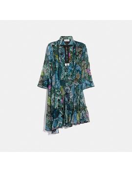 Asymmetrical Dress With Kaffe Fassett Print by Coach