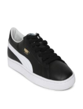 Men Black Basket Classic Lfs Idp Sneakers by Puma