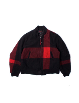 Red Big Plaid Wool Bomber by Engineered Garments  ×
