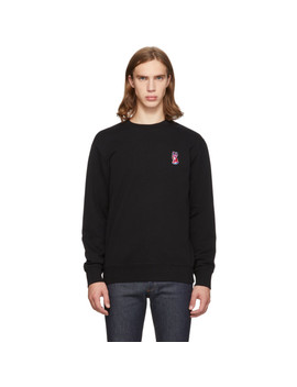 Black Acide Fox Patch Sweatshirt by Maison KitsunÉ