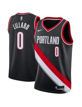 Men's Portland Trail Blazers Damian Lillard Nike Black Swingman Jersey   Icon Edition by Nba Store