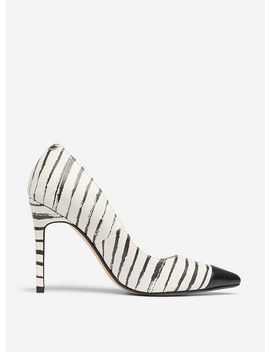 White Stripe Print 'Dancer' Court Shoes by Dorothy Perkins
