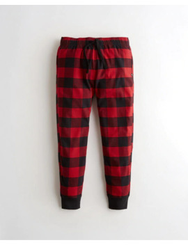 Flannel Jogger Pants by Hollister