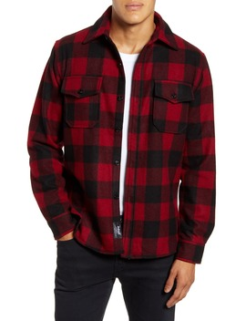 Water Resistant Wool Blend Shirt Jacket by Schott Nyc