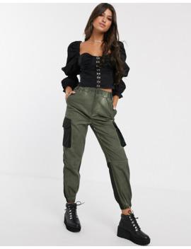 asos-design---top-manches-longues-style-corset-avec-crochets-et-œillets by asos-design